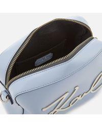 Karl Lagerfeld Blue K/signature Camera Bag