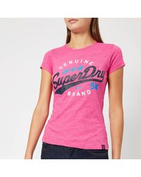 Superdry Pink Sd 54 Entry T-shirt