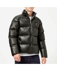 Versace Black Padded Down Jacket for men