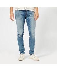 Nudie Jeans Blue Skinny Lin Jeans for men