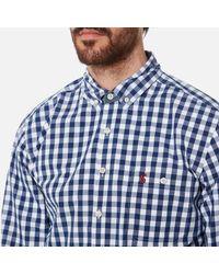 Joules Blue The Eastbury Paisley Long Sleeve Shirt for men