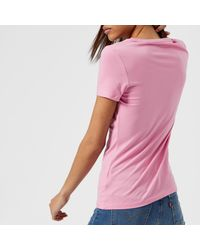 Guess - Pink Roses T-shirt - Lyst