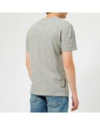 Tommy Hilfiger Gray Tjm Collegiate Logo T-shirt for men