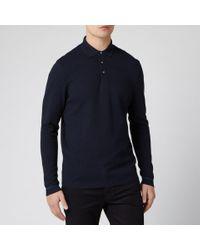 Ted Baker Blue Terned Long Sleeve Cotton Top for men