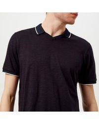 Ted Baker Blue Trophy Neck Polo Shirt for men