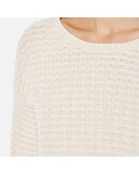 French Connection - Natural Mozart Popcorn Round Neck Jumper - Lyst