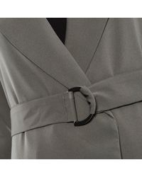 Lavish Alice - Green Cargo Pocket And D-ring Belt Utility Duster Jacket - Lyst