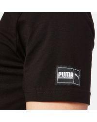 PUMA Black Style Athletic Short Sleeve T-shirt for men
