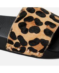Dune - Black Lana Slide Sandals - Lyst