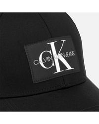 Calvin Klein Black Monogram Cap for men