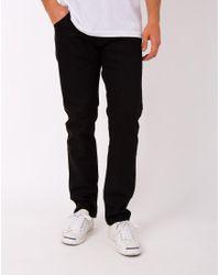 Nudie Jeans | Steady Eddie Dry Black Jeans for Men | Lyst