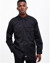 Dickies   Long Sleeve Work Shirt Black for Men   Lyst