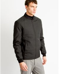 SELECTED | Clean Bomber Jacket Black for Men | Lyst