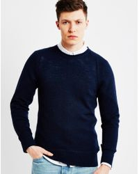 Nudie Jeans | Dag Fine Wool Jumper Blue for Men | Lyst