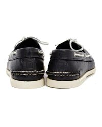 Sperry Top-Sider | Black Classic Leather Boat Shoe Navy for Men | Lyst