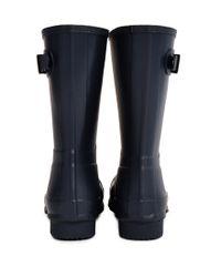 HUNTER - Black Original Short Rain Boot Navy for Men - Lyst