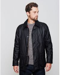 Barbour | Ashby Waxed Field Jacket Black for Men | Lyst