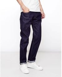 Edwin | Blue Classic, Japanese Rainbow Selvage, Regular Tapered, Washed Jeans for Men | Lyst
