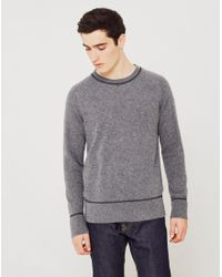 Nudie Jeans | Gray Dag Recycled Wool Knit Jumper Grey for Men | Lyst