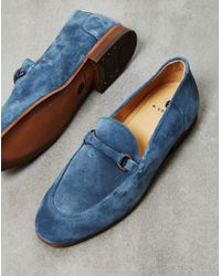 Hudson - Brown Renzo Suede Loafer Blue for Men - Lyst
