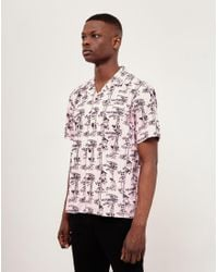 c81232fd Carhartt WIP S/s Pine Hawaii Shirt In Vegas Pink/black in Pink for ...