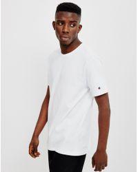Champion | White Reverse Weave Crew Neck T-shirt for Men | Lyst