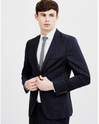 SELECTED | Blue Lou Alan Navy Stripe Blazer for Men | Lyst
