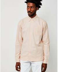 4bcceaff0a8a The Idle Man Casual Oxford Shirt Pink in Pink for Men - Lyst