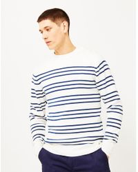 Armor Lux - Double Stripe Mariner Sweater Off White for Men - Lyst