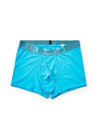 Calvin Klein - Iron Strength Cotton Trunk Light Blue for Men - Lyst