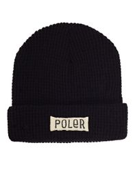 Poler | Workerman Beanie Black for Men | Lyst