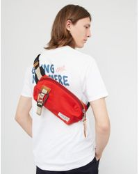 Master Piece - Masterpiece Link Waist Bag Red for Men - Lyst