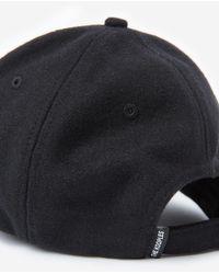 The Kooples Schwarze Kappe aus Flanell mit Badge in Black für Herren