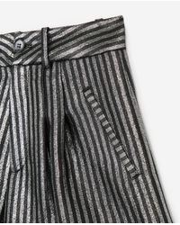 The Kooples Multicolor Black Shorts With Silver Stripes