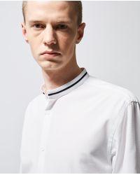 The Kooples Herrenhemd mit Offizierskragen in Weiß in White für Herren