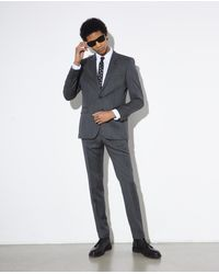 The Kooples Slim Fit-Anzughose aus grauer Wolle in Gray für Herren