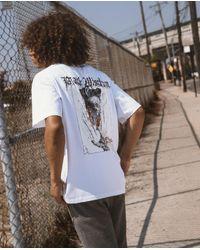 Camiseta blanca de algodón con serigrafía black wisdom The Kooples de hombre de color White