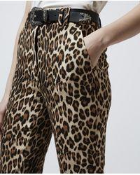The Kooples Multicolor Fließende Hose mit Leopardenprint