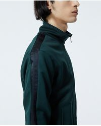 The Kooples Jacke Reißverschluss dunkelgrün Kragen in Green für Herren