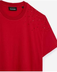 The Kooples Red T-shirt With Rhinestones