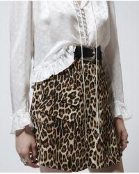 The Kooples White Elegantes weißes Hemd mit Volants