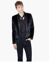 The Kooples Velvet Jacket in het Black voor heren