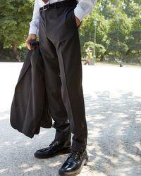 Pantalones de traje gris oscuro de lana The Kooples de hombre de color Gray