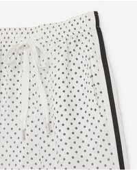 The Kooples Multicolor Loose, Ecru Silk Blend Trousers