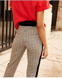 The Kooples Black Schwarze Vintage-Hose aus Polyester