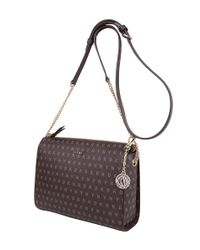 DKNY - Brown Small Top Zip Crossbody - Lyst