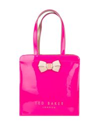 3d4f1d74b Lyst - Ted Baker Kriscon Small Shopper in Pink