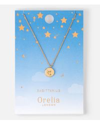 Orelia - Metallic Sagittarius Constellation Necklace - Lyst