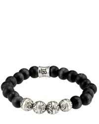 Icon Brand - Black Bracelet Krakatoa for Men - Lyst