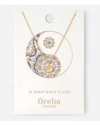 Orelia | Metallic Spiritual Yin Yang Ditsy Necklace | Lyst